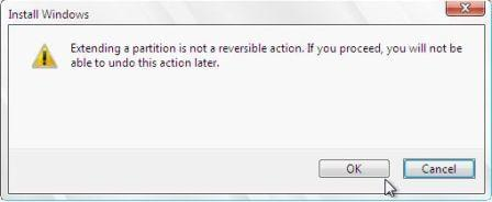 Extend Partition in Windows 2008 Setup