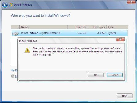 Format Partition in Windows 2008
